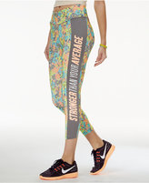 Energie Active Juniors' Cropped Graphic Leggings