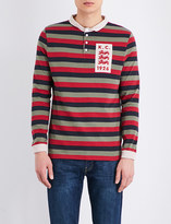 Kent & Curwen Striped three-lions cotton-jersey rugby top