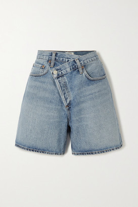 AGOLDE Criss Cross Organic Denim Shorts