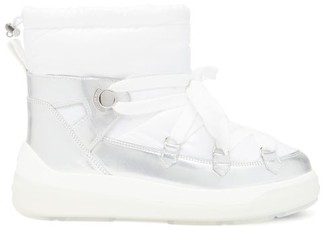 Moncler Florine Technical-shell And Leather Boots - White