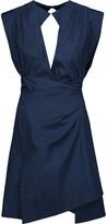 Isabel Marant Mina Cotton-Poplin Wrap Mini Dress