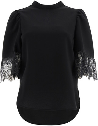 See by Chloe Blouse With Lace Sleeves