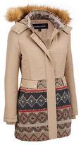 Black Rivet Womens Faux-Fur Hooded Walker W/ Wool Bottom