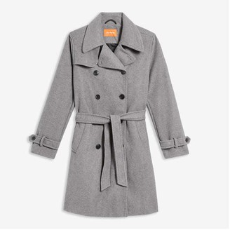 Joe Fresh Women's Trench Coat, Charcoal Mix (Size M)