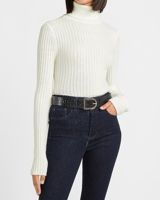 Express Wide Ribbed Turtleneck Sweater