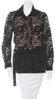 Alexis Guipure Lace Belted Jacket