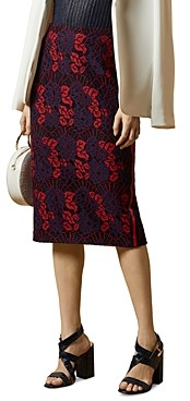 Ted Baker Zinniaa Floral Lace Pencil Skirt