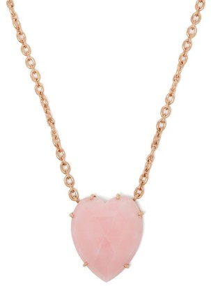 Irene Neuwirth Opal Heart & 18kt Rose Gold Necklace - Womens - Pink