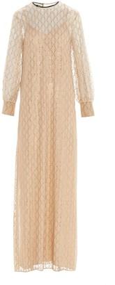 Gucci Jeweled Logo Maxi Dress