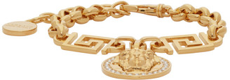 Versace Gold Chain Link Medusa Bracelet