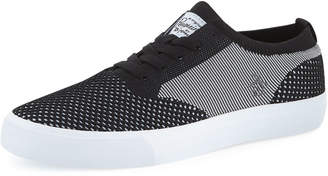 Original Penguin Men's Beckham Striped Flyknit Sneakers, Black/Gray