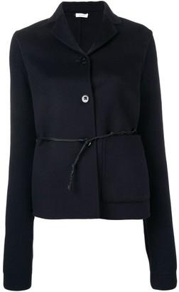 Jil Sander belted knitted sleeve blazer