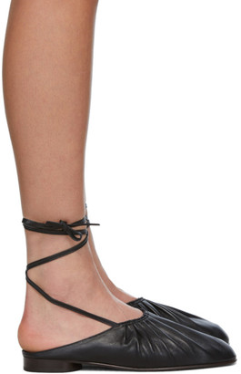 3.1 Phillip Lim Black Nadia Lace-Up Ballet Loafers