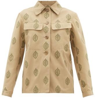 Chloé Logo-jacquard Cotton Jacket - Beige