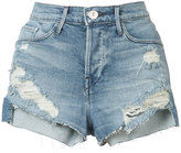 3x1 ripped denim shorts - women - Cotton/Polyester/Spandex/Elastane - 23