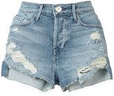 3x1 ripped denim shorts - women - Cotton/Polyester/Spandex/Elastane - 24