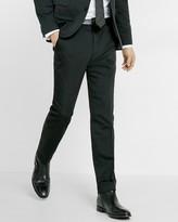 Express Extra Slim Black Cotton Sateen Suit Pant