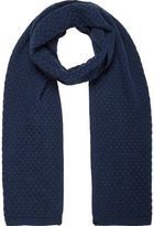 River Island Navy Honeycomb Knit Scarf