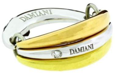 Damiani 18K Three-Tone Gold Diamond Multi Band Ring