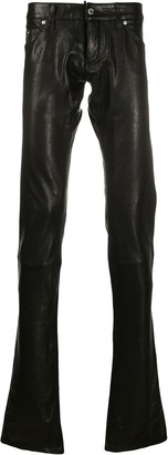DSQUARED2 Long Leather Trousers
