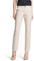 MANGO Straight-fit linen cotton-blend trousers