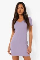 Thumbnail for your product : boohoo Notch Neck Short Sleeve Mini Dress