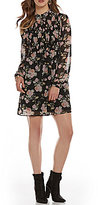 As U Wish Floral Mockneck Shift Dress