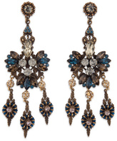 Miriam Haskell Antique Sapphire Chandelier Earrings