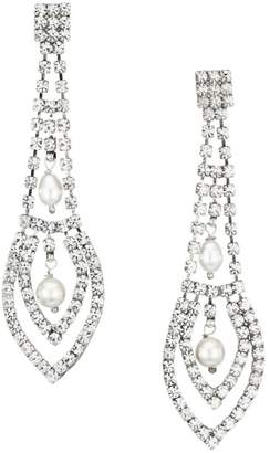 Gas Bijoux Lucia Strass 24K Goldplated, Crystal & Mother-Of-Pearl Chandelier Earrings