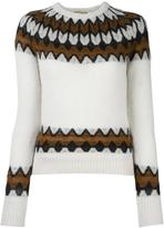 Laneus intarsia knit jumper