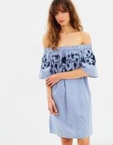 Vero Moda Bella Off-Shoulder Short Dress