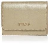 Furla Babylon Small Metallic Leather Card Case