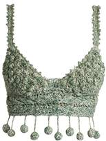 Rosie Assoulin Carmen Miranda crochet cropped top