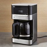 Crate & Barrel Braun 12-Cup Stainless Steel Coffee Maker