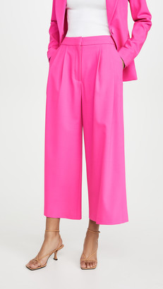 ADAM by Adam Lippes Pleat Front Culottes In Stretch Wool