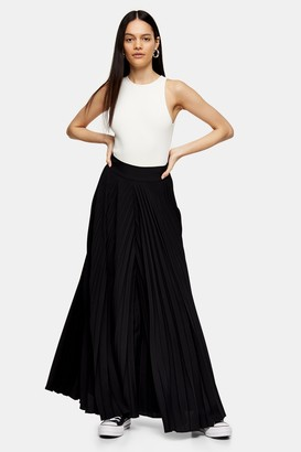 Topshop Womens **Black Pleated Trousers By Black