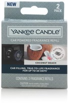 Yankee Candle Car Powered Fragrance Diffuser Refill, Coconut Beach