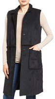 French Connection Women's Reversible Faux Shearling Vest