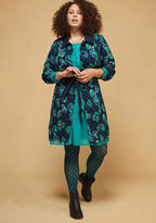 Delightful Direction Floral Coat in Navy in M - Trench Coat by ModCloth