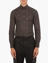 Lanvin Brown Camouflage Cotton Shirt