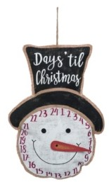 Transpac Trans Pac White Christmas Stuffed Countdown Character