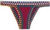 Kiini Soley Crochet-trimmed Bikini Briefs - Claret