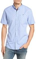 7 Diamonds Men's Double Feature Short Sleeve Sport Shirt