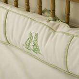 The Well Appointed House Petite Moi Bunnies Embroidered Four Piece Crib Bedding Set In Green
