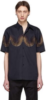 Dries Van Noten Navy Verner Panton Edition Wave Classen Shirt
