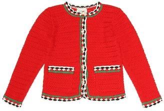 Gucci Kids Crochet cotton cardigan
