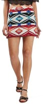 Topshop Southwest Jacquard Miniskirt