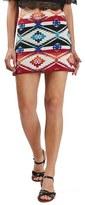 Topshop Women's Southwest Jacquard Miniskirt