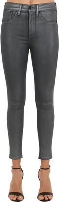 Rag & Bone Coated Cotton Denim Skinny Jeans