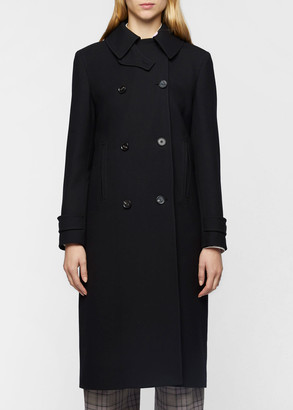 Paul Smith Women's Black Wool Double-Breasted Trench Coat